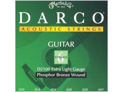 Martin Darco D2100 Phosphor Bronze Acoustic Guitar Strings, Extra Light