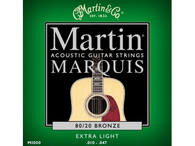 Martin M 1000 Marquis 80/20 Bronze Extra Light Acoustic Guitar Strings