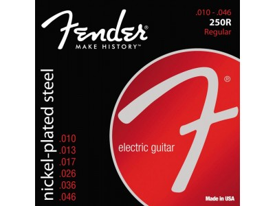 Fender PRIBOR Super 250 Guitar Strings. Nickel Plated Steel. Ball End. 250R Gauges .010-.046