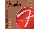 Fender PRIBOR Dura-Tone Coated. 80/20 Acoustic Guitar Strings. Ball End. 880CL Gauges .11-.52