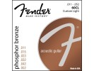 Fender PRIBOR Phosphor Bronze Acoustic Guitar Strings. Ball End. 60CL .011-.050 Gauges
