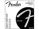 Fender PRIBOR Nylon Acoustic Strings. 130 Clear/Silver. Ball End. Gauges .028-.043