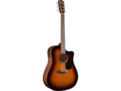 Fender CD-60 CE. Sunburst. Cutaway. Spruce Top. Nato Back/Sides. Fishman