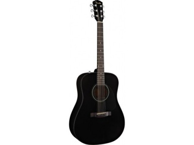 Fender CD-60. Black. Spruce Top. Nato Back/Sides