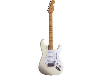 Fender Jimmie Vaughan Tex Mex Strat Maple Fretboard. Olympic White