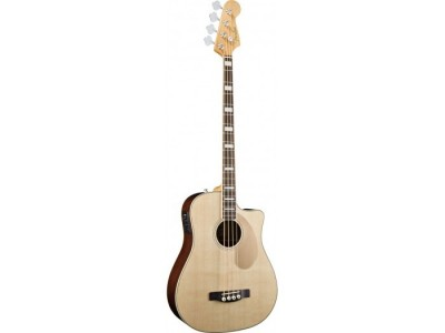Fender Kingman Bass SCE. Natural. Cutaway. Solid Spruce Top. Mahog' Back/Sides. Fishman/Tuner *