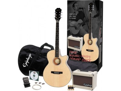Epiphone PR-4E Acoustic Electric Player Pack Natural Chrome