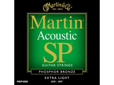Martin MSP4000 SP Phosphor Bronze Extra Light Acoustic Guitar Strings