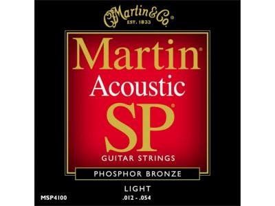 Martin MSP4100 Phosphor Bronze Light Acoustic Guitar Strings