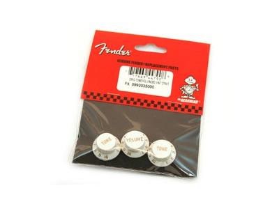 Fender PRIBOR Volume/Tone Knob Set. Strat. White. Set of 3 *