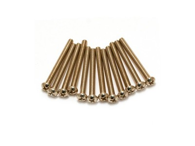 Fender PRIBOR Intonation Screws. Vintage and Standard Bass Bridges. 6-32 x 1-1/2. Philips. Nickel (12) *