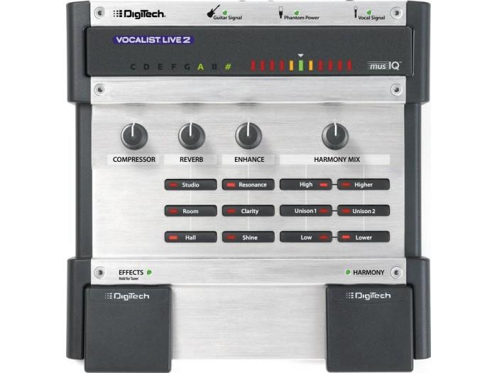digitech vocalist live 2 vocal harmony effects processor. Black Bedroom Furniture Sets. Home Design Ideas