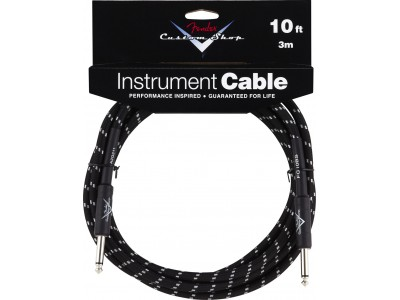 Fender PRIBOR Custom Shop Performance Series Cable 10 Black Tweed