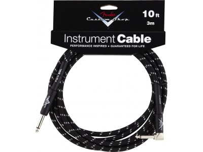 Fender PRIBOR Custom Shop Performance Series Cable 10 Angled Black Tweed