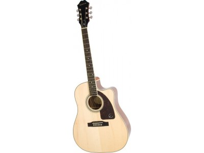 Epiphone AJ-220SCE Solid Top Ac/Electric Natural Nickel