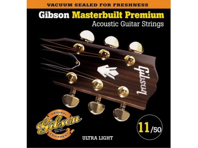 Gibson PRIBOR Masterbuilt Premium Phosphor Bronze .011-.052 Acou Bronze