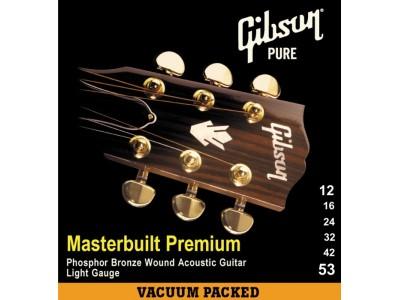 Gibson PRIBOR Masterbuilt Premium Phosphor Bronze .012-.053 Acou Bronze