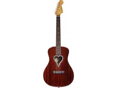 Fender Alkaline Trio Malibu. Natural. Mahog' Top Back/Sides. Heart Shaped Rosette