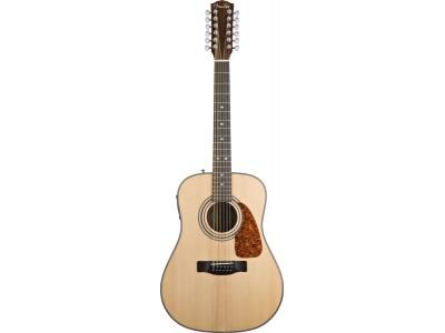 Fender CD-160 SE-12 String. Natural. Solid Spruce Top. Mahog' Back/Sides. Fishman