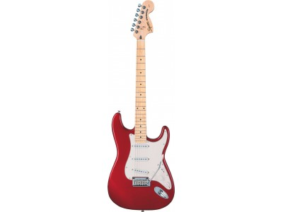 Squier By Fender Standard Stratocaster Maple Fretboard. Candy Apple Red