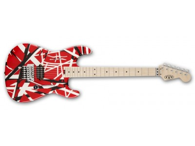EVH Striped Series Red with Black Stripes