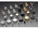 "Schaller Speed Knobs Aluminium. ""Telecaster-Style"" Diamond-Knurled BlackChrome"