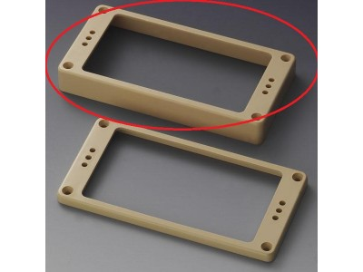 Schaller Pickup Frames (one hole) Plastic. straight Cream High 1/2 inch