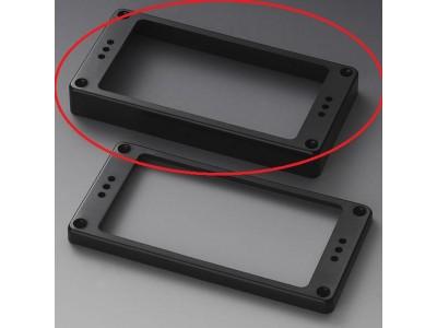 Schaller Pickup Frames (one hole) Plastic. straight Black High 1/2 inch