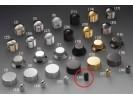 Schaller Speed Knobs Brass (36) Smooth Black Chrome