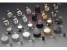 Schaller Speed Knobs Aluminium (28) Diamond-Knurled Black Chrome