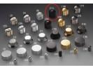 Schaller Speed Knobs Brass (11) Diamond-Knurled Black Chrome