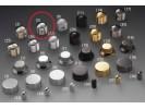 Schaller Speed Knobs Brass (5) Diamond-Knurled Chrome