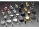 Schaller Speed Knobs Brass (2) Diamond-Knurled Nickel