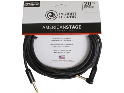 Planet Waves PW-AMSGRA-20 AMERICAN STAGE INST CBL RA 20'