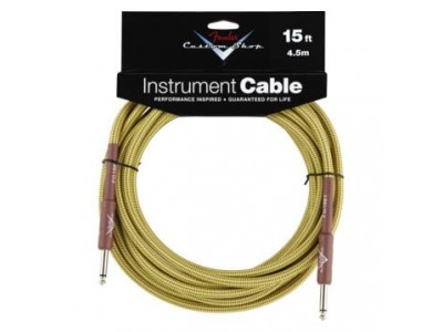 Fender PRIBOR Custom Shop Performance Series Cable. 15'. Tweed