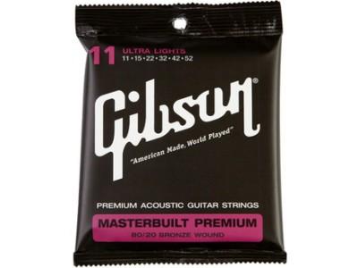 Gibson PRIBOR Masterbuilt Premium 8020 Brass .011-.052 Acou