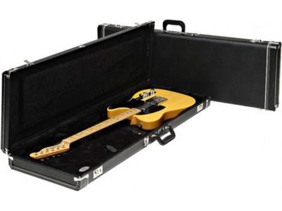 Fender PRIBOR Standard Stratocaster/Telecaster Case, Black w/ Black Acrylic Interior