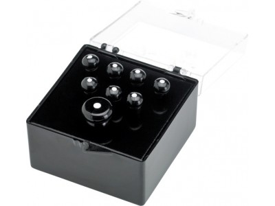 Fender PRIBOR Bridge Pins. Acoustic. Black w/ White Dots (6) *
