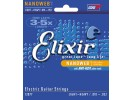 Elixir Electric Guitar Strings with NANOWEB Coating (.010-.052) Light-heavy