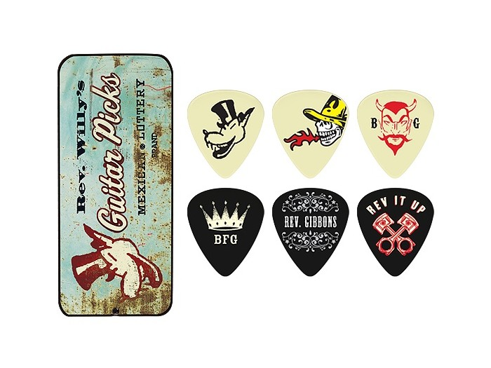 Jim Dunlop RWT02M Reverend Willy Medium Pick Tin