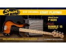 Squier By Fender Affinity Series Precision Bass. Fender Rumble 15 Amp. Brown Sunburst