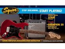 Squier By Fender Stop Dreaming, Start Playing! Affinity Series Strat HSS with Fender Champion 20 Amp, Candy Apple Red