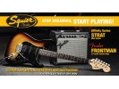 Squier By Fender Affinity Series Strat HSS with Fender Frontman 15G Amp, Brown Sunburst