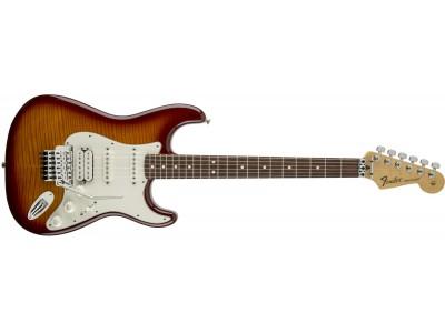 Fender Standard Strat Plus Top with Floyd Rose Tremolo, Rosewood Fingerboard, Tobacco Sunburst