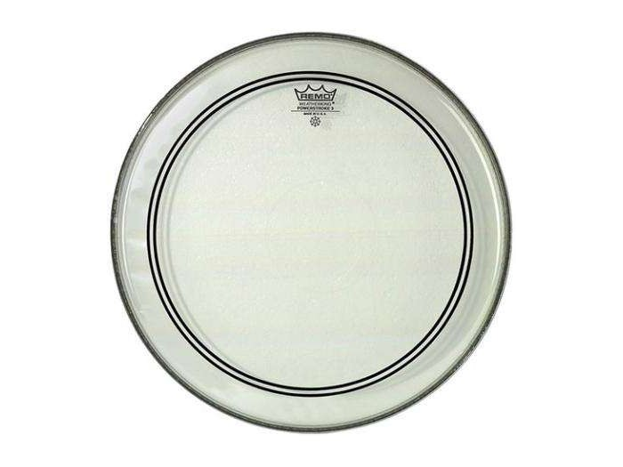 remo 20 powerstroke p3 clear bass drum head with falam patch. Black Bedroom Furniture Sets. Home Design Ideas