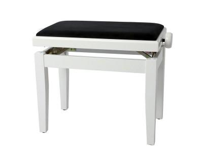 Gewa PIANO BENCH WHITE HIGH GLOSS COVER BLACK