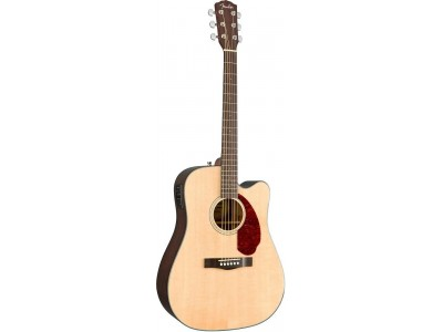 Fender Cd 140 solid cutaway electric natural with/case