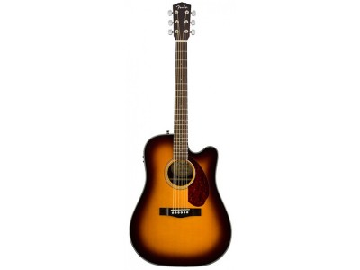 Fender Cd 140 solid cutaway electric sunburst with/case