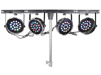 BeamZ BAR 4Way Kit 4-18x1W RGB LED DMX IR