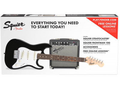 Squier By Fender STRAT® SS PACK (SHORT-SCALE) BLACK